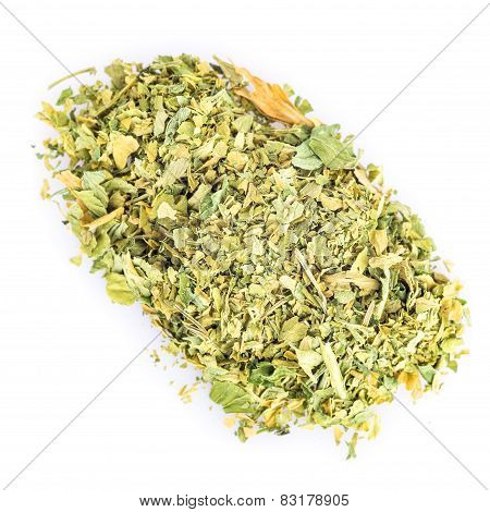 Dried Parsley Isolated On A White Background