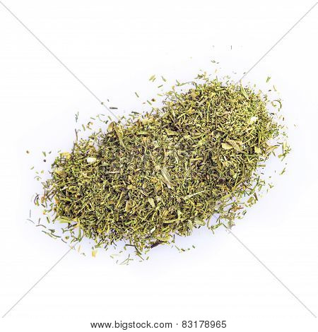 Dried Dill Isolated On A White Background