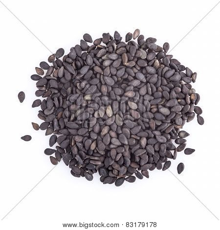 Black Sesame Isolated On A White Background