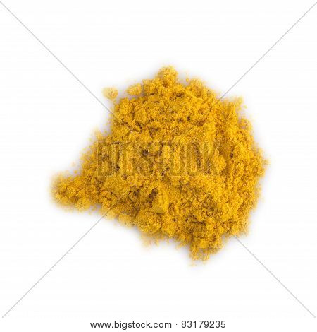 Turmeric Powder Isolated On A White Background