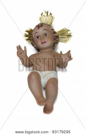 Child Jesus Isolated On A White Background