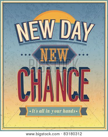 New Day, New Chance