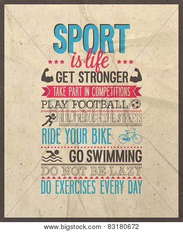 Sport Is Life.
