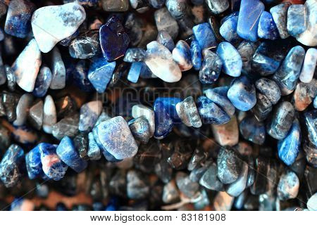 Abstract Blue Mineral Texture