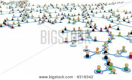 Cartoon Crowd Links, Branch Close-up
