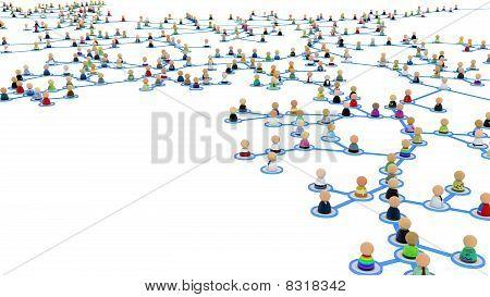 Cartoon Crowd Links, Branch Close-up
