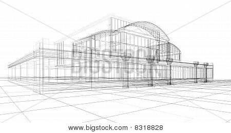 Sketch Of Office Building