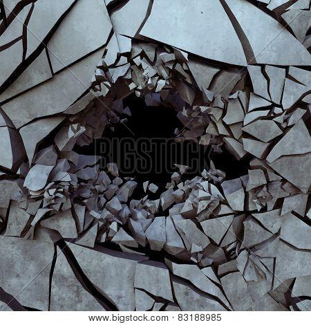 Cracked earth, vector