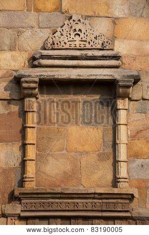 Decorative Window At Qutub Minar, Delhi, India