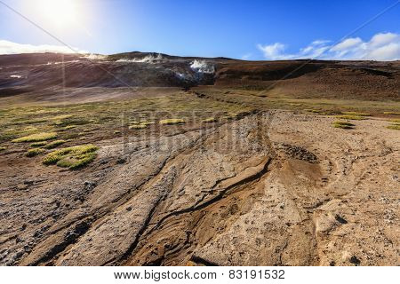Hverir - geothermal field in Northern Iceland
