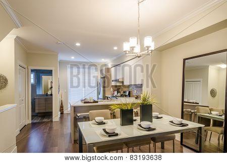 Modern dining room. Interior design.