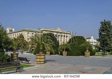 Courts of justice and garden in Ruse town