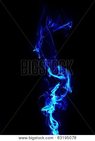 Abstract Blue Energy On Black Background
