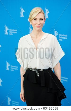 BERLIN, GERMANY - FEBRUARY 13: Cate Blanchett, 'Cinderella' photo-call, 65th Berlinale International Film Festival at Grand Hyatt Hotel on February 13, 2015 in Berlin, Germany