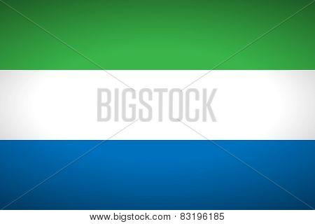 Flag Of Sierra Leone.