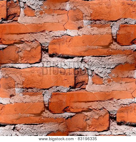 seamless texture of red brick wall