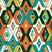 picture of motif  - Vector seamless ethnic pattern with Uzbek - JPG
