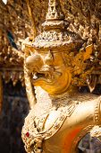 image of garuda  - Golden Garuda of Wat Phra Kaew at Bangkok Thailand - JPG