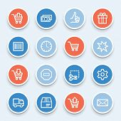 stock photo of truck-stop  - Shopping cart web icons - JPG