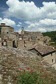 italian medieval village poster