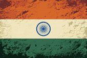 image of indian flag  - Indian flag Grunge background - JPG