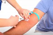 stock photo of flu shot  - close - JPG