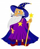 image of wizard  - the Illustration dedicated to the wizard   with old man in hat - JPG