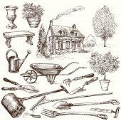 stock photo of hand tools  - gardening - JPG