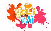 pic of indian culture  - Indian color festival celebration poster or banner design with Hindi text Holi Hai  - JPG