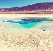 foto of andes  - Ojo del Mar in Argentina Andes is a salt desert in the Jujuy Province - JPG