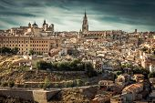 stock photo of parador  - Toledo over sunset - JPG