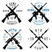 foto of guns  - Vector Gun Badges Set - JPG