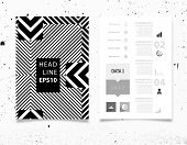 foto of placard  - Infographic Vector Illustration with Abstract Geometric Pattern Background - JPG