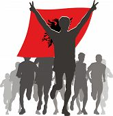 image of albania  - Illustration silhouettes of athletes - JPG