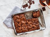 foto of brownie  - chocolate brownie - JPG