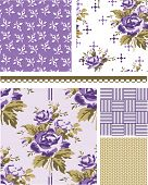 image of fill  - Summer Inspired Floral Seamless Vector Patterns - JPG