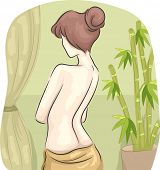 pic of half-naked  - Rear View Illustration of a Half - JPG