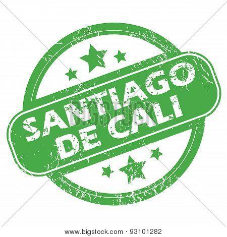 Santiago De Cali green stamp
