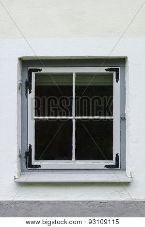 Old Style Vintage Window In Concrete House