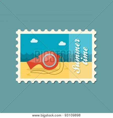 Whistle Flat Stamp, Summertime