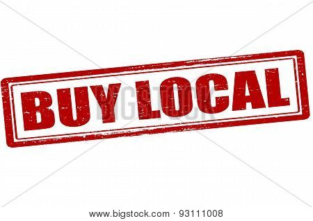Rubber stamp with text buy local inside vector illustration