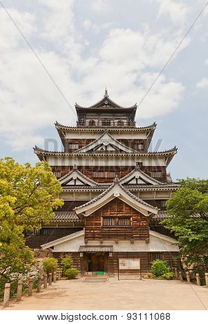 Main Keep Of Hiroshima Castle, Japan. National Historic Site