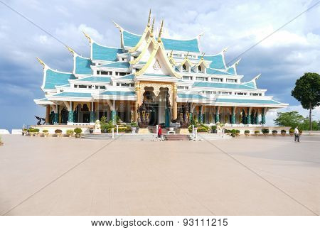 Thailand Style Architecture Of Buddhist Church