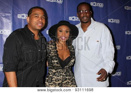 LOS ANGELES - JUN 9:  Omar Gooding, Angell Conwell, Bentley Kyle Evans at the