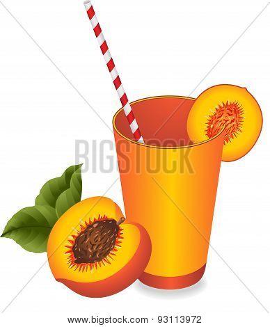 Peach juice summer refreshment