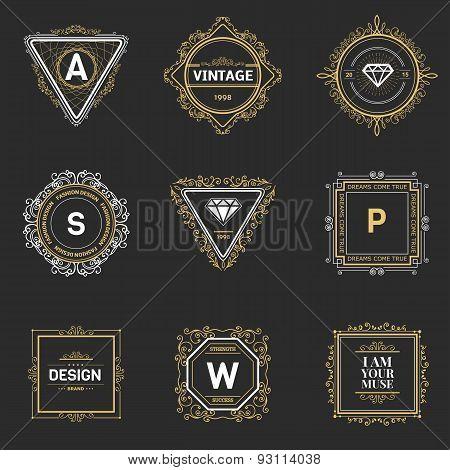 Monogram  template