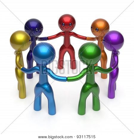 Social Network Teamwork Circle People Diverse Characters
