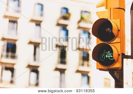 Traffic lights and a pedestrian crossing