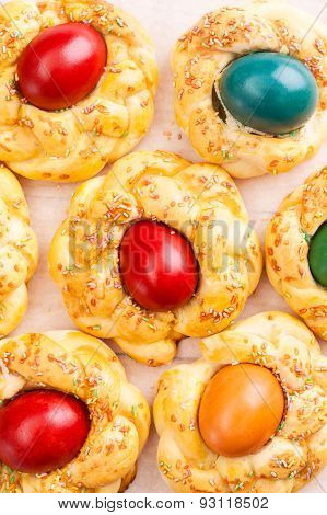 fresh easter sweet bread