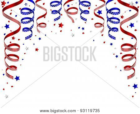 Colorful fourth of july background